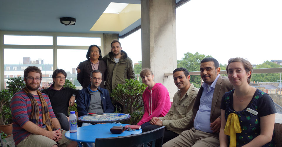 CRE XV Organisational Committee (front row: from left to right: Carl Walsh, Jason Lundock, Ferico Ugolini, Courtney Bobik, Ahmed Mekhawy, Hany Rashwan, Stacy Hackner.  Back row:  Justin Yoo and Massimiliano Pinarello)
